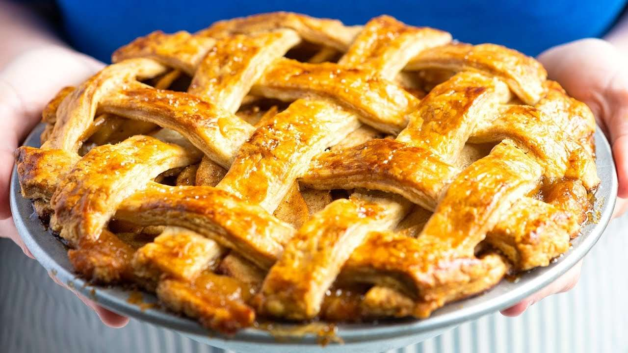 Hand crafted apple pie